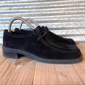 Clark's Black Suede Leather Shoes Size 9M